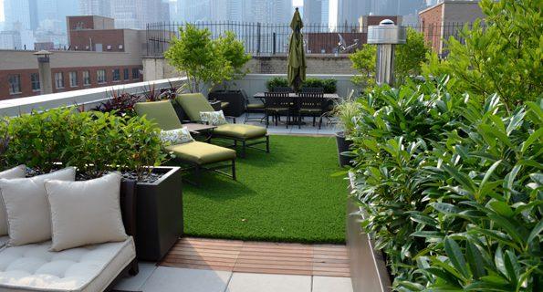 طراحی پشت بام سبز – روف گاردن مجزا برای هر واحد یک ساختمان