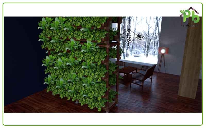 green wall indoor