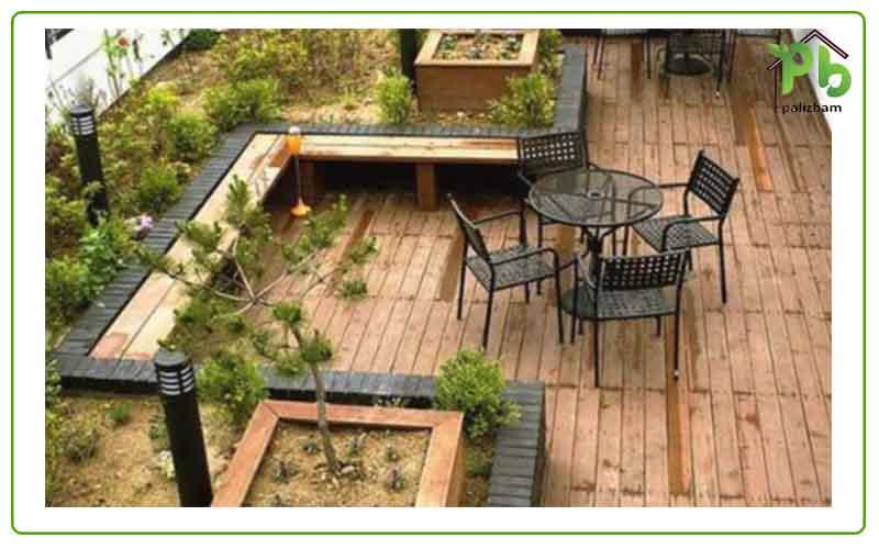 باغچه آرایی در تراس