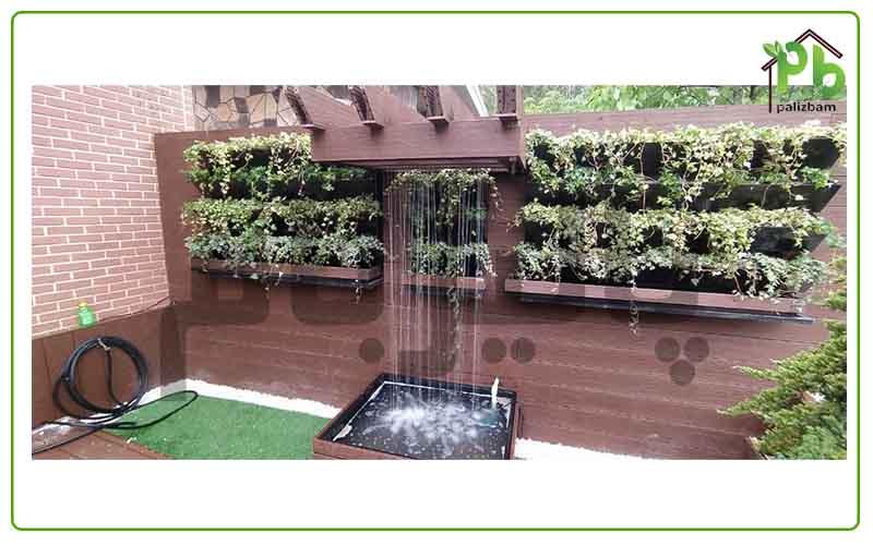 آبنما سازه ای در محوطه سازی باغ